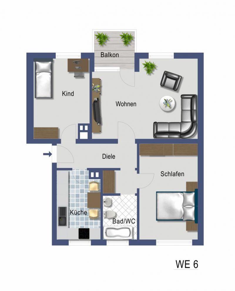 3 zimmer erdgeschosswohnung mit balkon zum kauf in grevenbroich. Black Bedroom Furniture Sets. Home Design Ideas