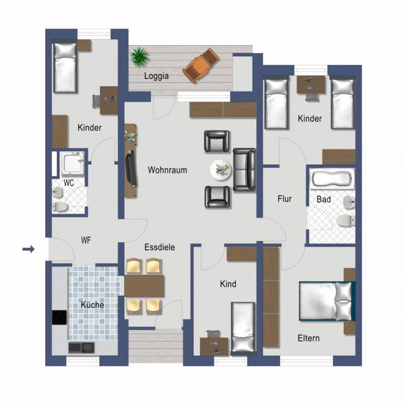 5 Zimmer Etagenwohnung Mit Balkon Zum Kauf In Bonn